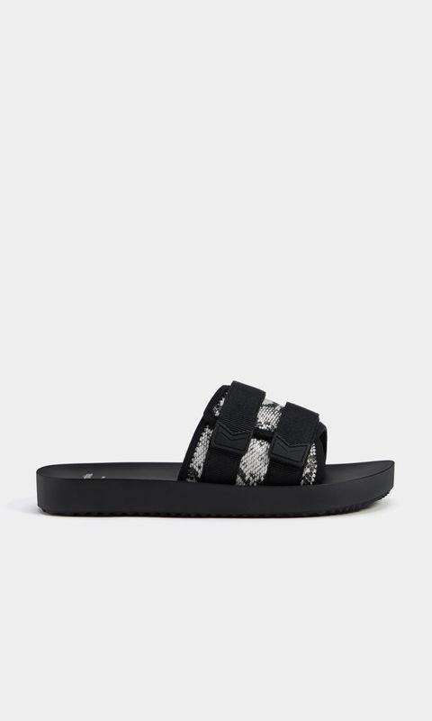 Footwear, Black, Slipper, Shoe, Sandal, Flip-flops, Leather, Buckle,