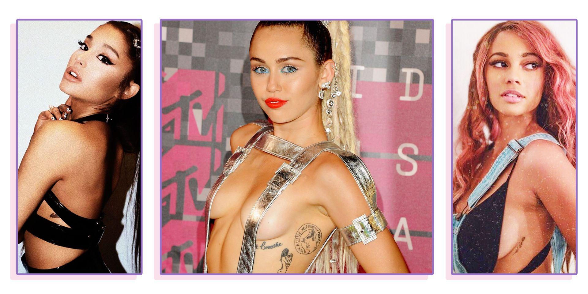 26 Best Celebrity Boob Tattoos Beautiful Underboob Tattoo Ideas