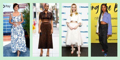 Clothing, Dress, Fashion, Fashion model, Carpet, Street fashion, Footwear, Fashion design, Red carpet, Crop top,