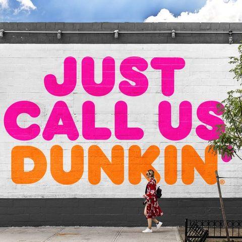 Pink, Text, Font, Advertising, Street art, Wall, Mural, Banner, Facade, Tree,