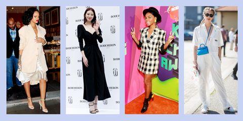 Clothing, Fashion model, Dress, Fashion, Formal wear, Footwear, Fashion design, Outerwear, Suit, Sleeve,