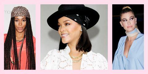 Hair, Clothing, Hat, Fashion accessory, Beauty, Headgear, Lip, Neck, Black hair, Ear,