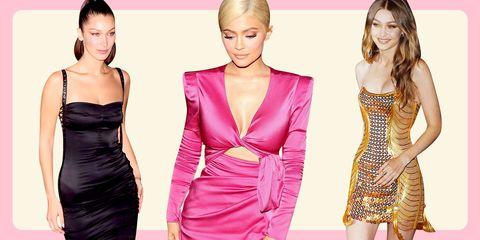 Clothing, Fashion model, Dress, Cocktail dress, Shoulder, Pink, Neck, Fashion, Joint, Formal wear,