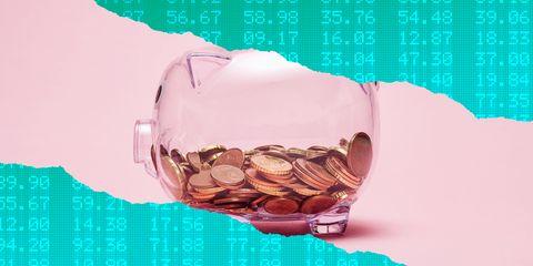 Saving, Money, Piggy bank, Illustration,