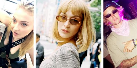 Eyewear, Hair, Face, Glasses, Blond, Sunglasses, Cool, Hairstyle, Lip, Eyebrow,