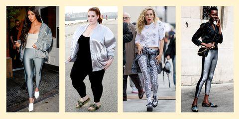 celebs wearing leggings