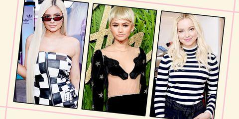 Hair, Clothing, Blond, Beauty, Hairstyle, Shoulder, Fashion, Eyewear, Dress, Lip,