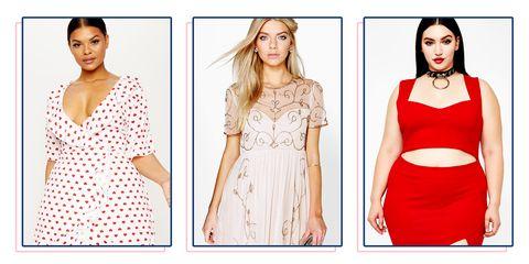 Clothing, Dress, Fashion model, Day dress, Cocktail dress, Red, Shoulder, Fashion, Sleeve, Neck,