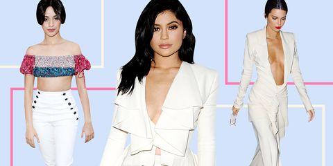 Fashion model, Clothing, White, Shoulder, Skin, Fashion, Blazer, Pink, Outerwear, Beauty,