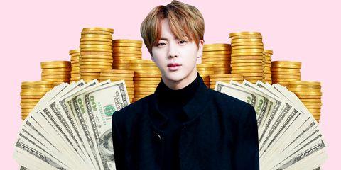 Money, Cash, Currency, Forehead, Job, White-collar worker, Saving, Money handling, Smile, Paper,
