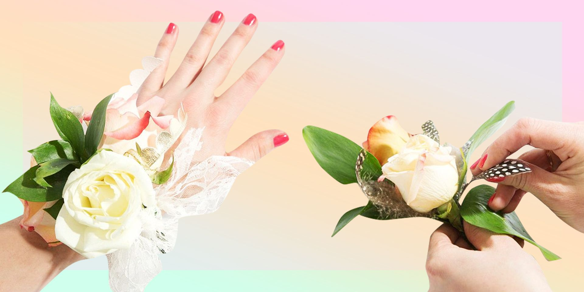 How to make a corsage with real flowers