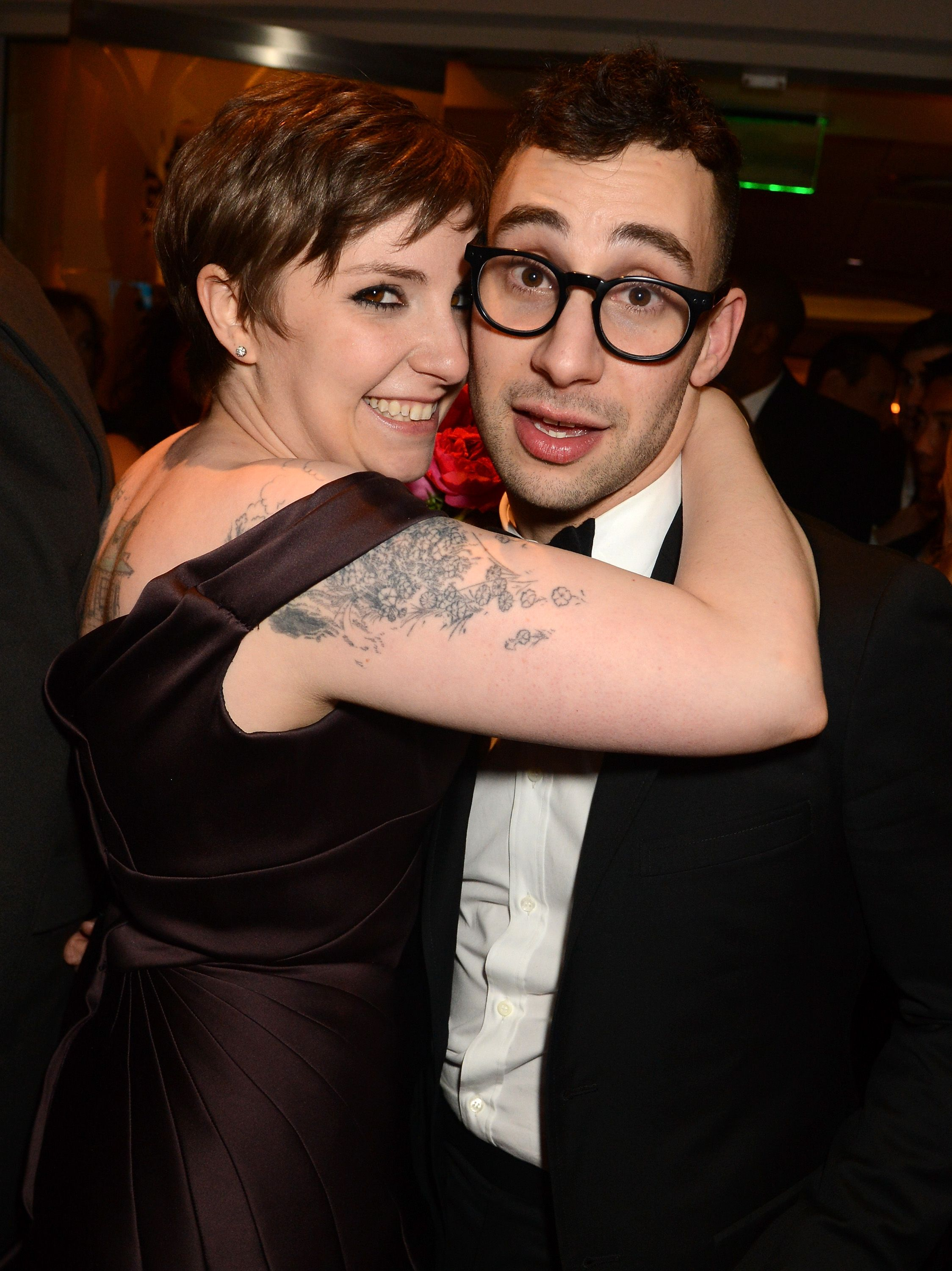 "Lena Dunham and Jack Antonoff Jack Antonoff's sister, Rachel, and comedian Mike Birbiglia set the couple up. ""It was a blind date by modern standards. I mean, I used the internet,"" Antonoff explained to Vulture ."