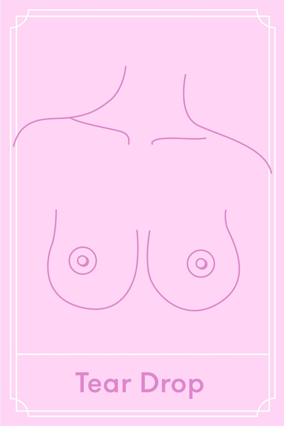 Pictures of different types of womens breasts