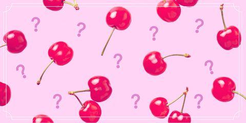 Pink, Magenta, Heart, Font, Cherry, Plant,