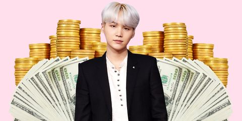 Money, Cash, Currency, Blond, Saving, White-collar worker, Job, Paper, Money handling, Businessperson,