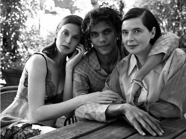 isabella rossellini with daughter elettra and son roberto