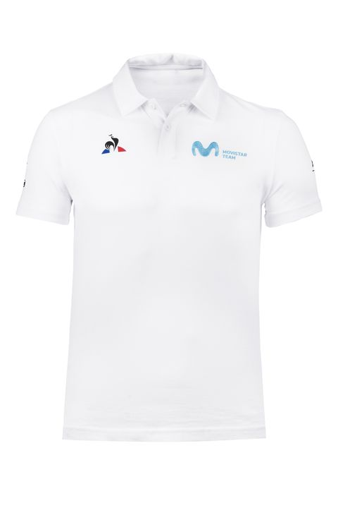 Polo blanco le coq sportif Movistar Team