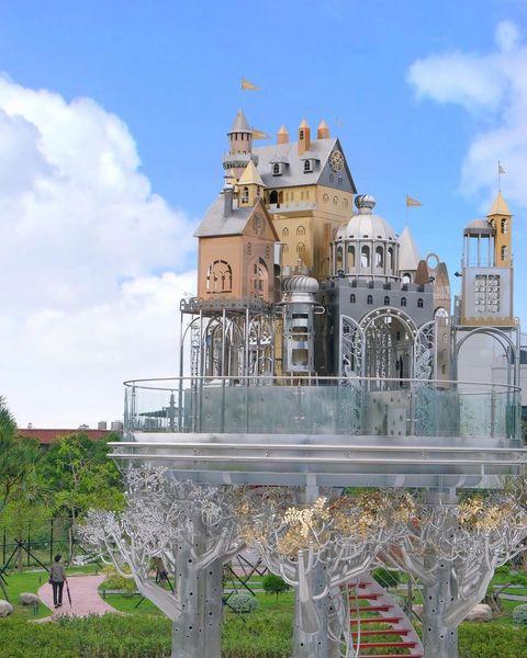 宜蘭全新夢幻景點「空中城堡」!飄在天上的華麗樂園,互動式裝置、歐風咖啡廳⋯5大園區準備朝聖