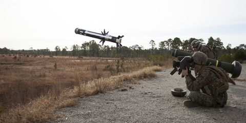 Javelin missile launch.