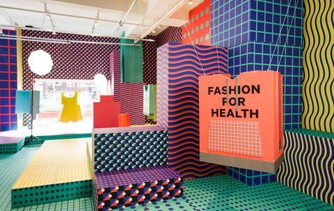 Room, Interior design, Pattern, Design, Line, Architecture, Textile, Furniture, Building, Tile,