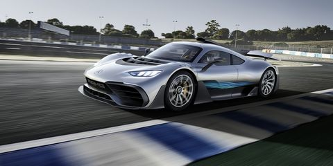 The Mercedes-AMG One Is Front-Drive in Electric Mode