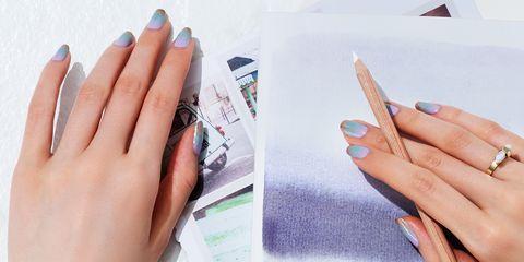 Nail, Finger, Hand, Manicure, Nail care, Nail polish, Cosmetics, Design, Material property, Artificial nails,