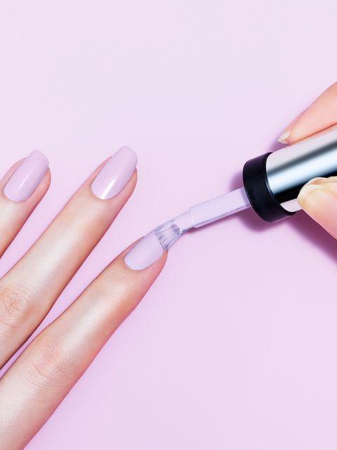 Nail polish, Nail, Cosmetics, Nail care, Manicure, Pink, Finger, Beauty, Skin, Lilac,