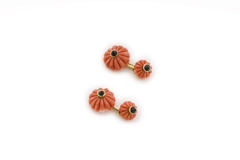 Orange, Earrings, Fashion accessory, Peach, Jewellery, Plant, Bead, Flower,
