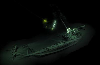 sunken greek ship