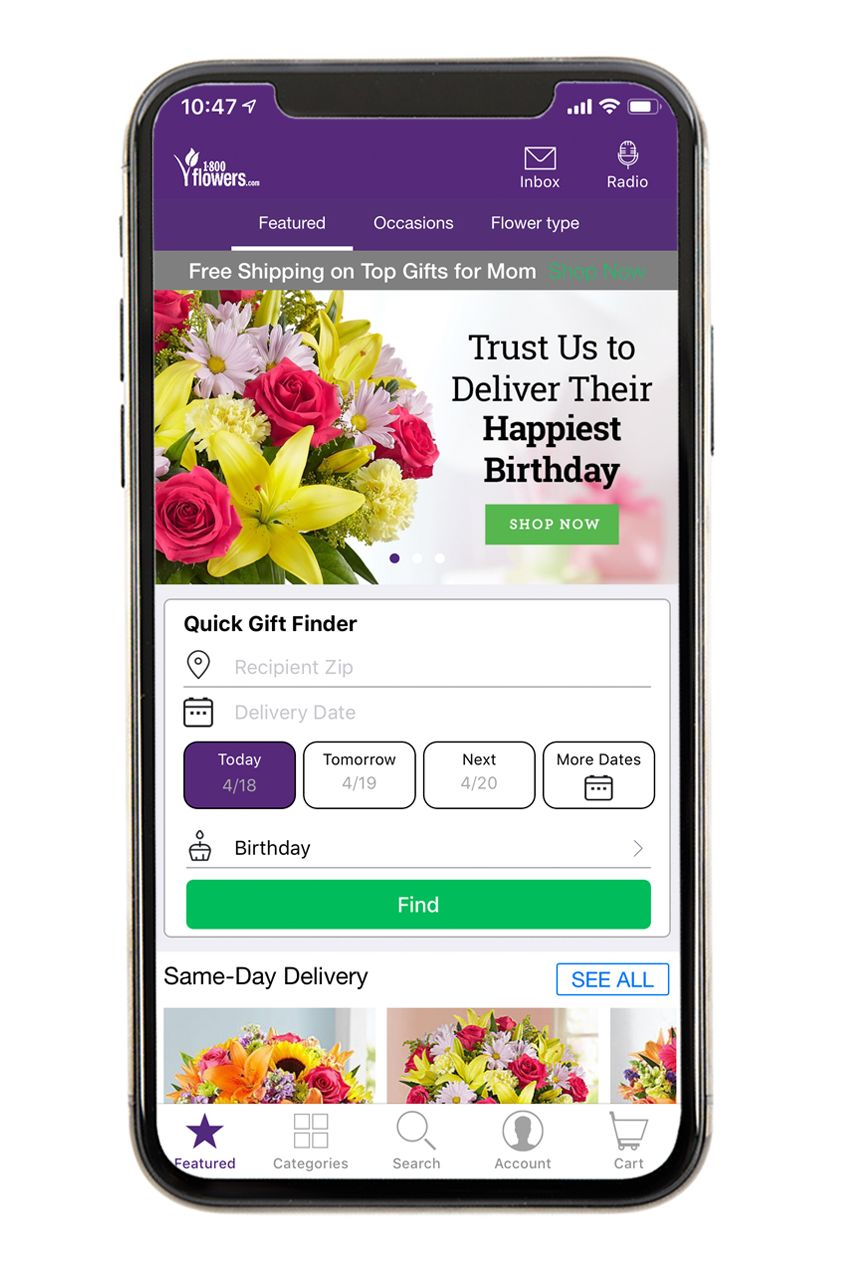 1-800-Flowers - Best Gift Giving Apps
