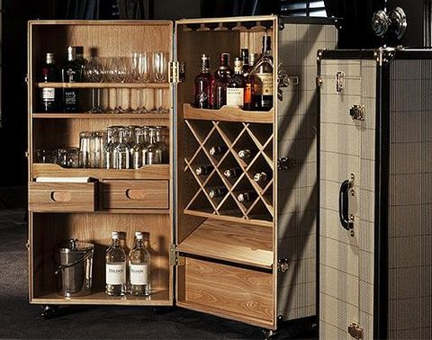 Eichholtz可移動式行李箱造型酒櫃