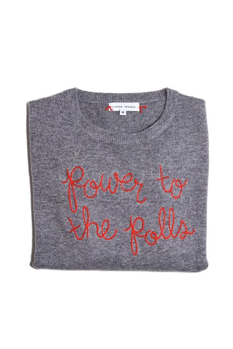 Clothing, T-shirt, Sleeve, Grey, Text, Orange, Font, Outerwear, Sweater, Top,