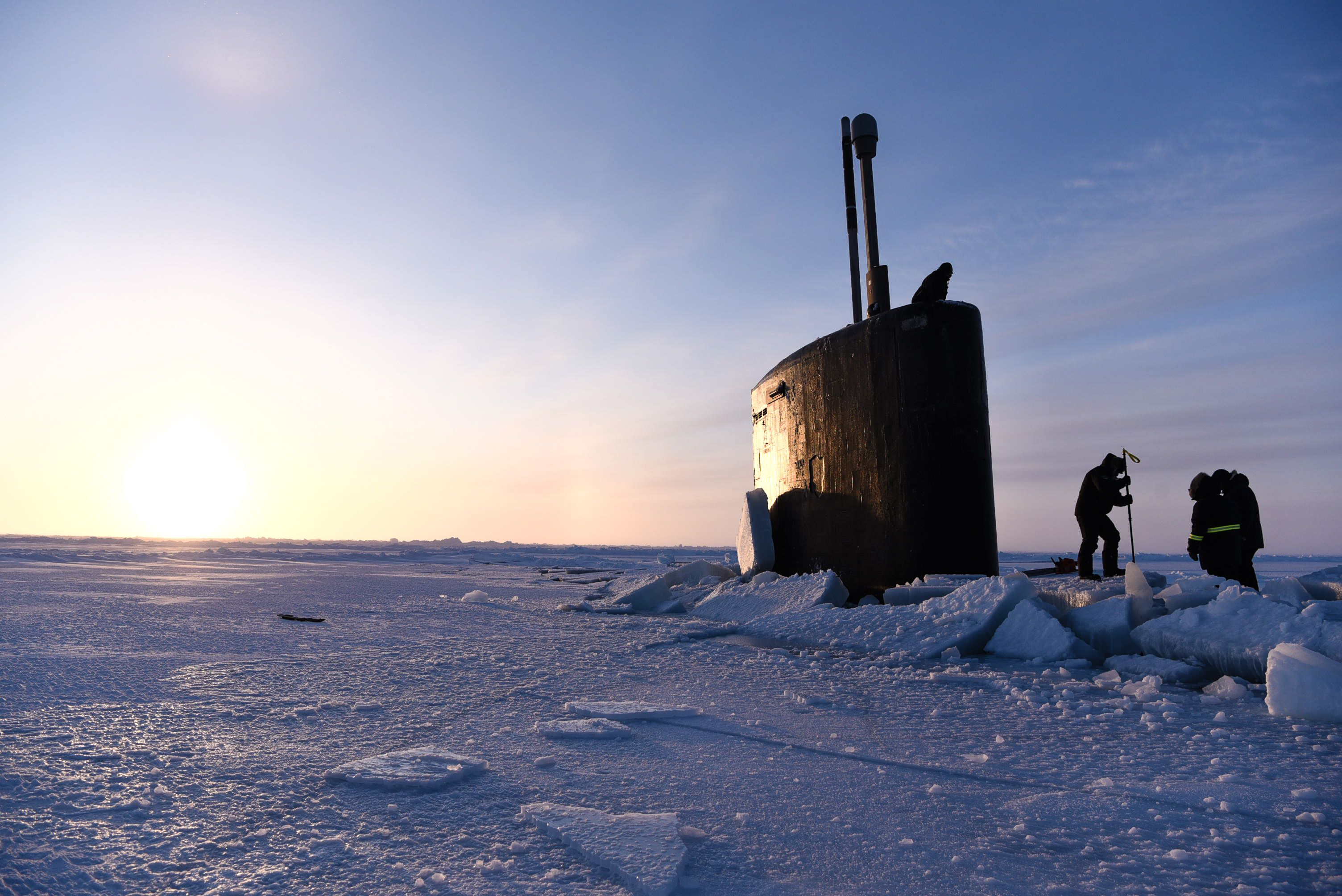 How the Navy Punches a Nuclear Sub Through Arctic Ice