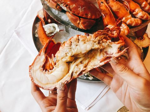 Food, Dish, Seafood, Cuisine, Dungeness crab, Crab, Ingredient, Decapoda, Delicacy, Spiny lobster,