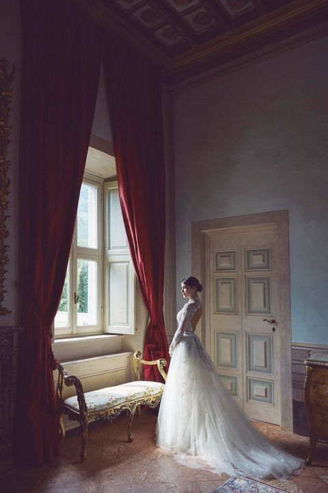 Photograph, Dress, Wedding dress, Bride, Gown, Clothing, Bridal clothing, Beauty, House, Photography,