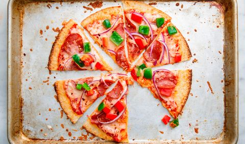 Cuisine, Food, Dish, Ingredient, Comfort food, Pizza, Flatbread, Tomato, Produce, Finger food,