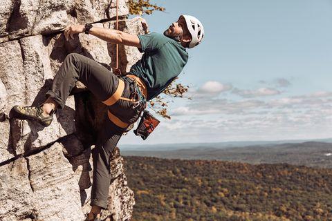 Adventure, Sport climbing, Climbing, Recreation, Extreme sport, Rock climbing, Mountaineer, Fun, Climbing harness, Free climbing,