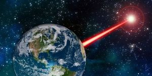 laser fired from earth mit