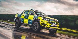 Ford Ranger Raptor en la policía británica