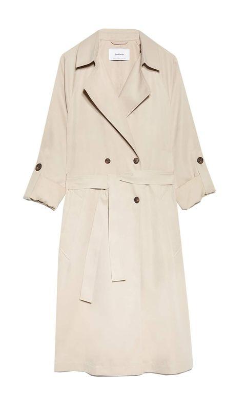 Clothing, Trench coat, Coat, Outerwear, Overcoat, Sleeve, Beige, Duster, Robe, Uniform,