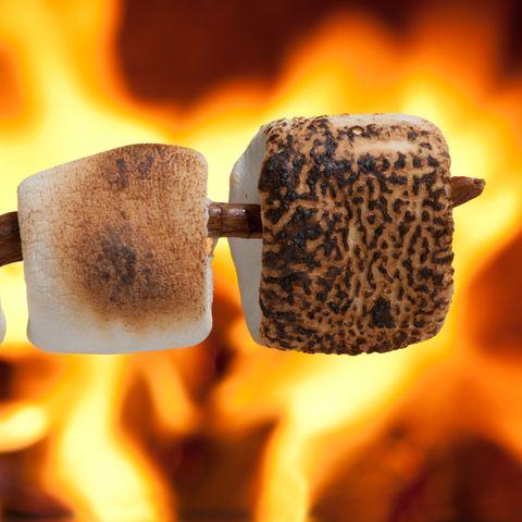 Marshmallow, Heat, Flame, Fire,