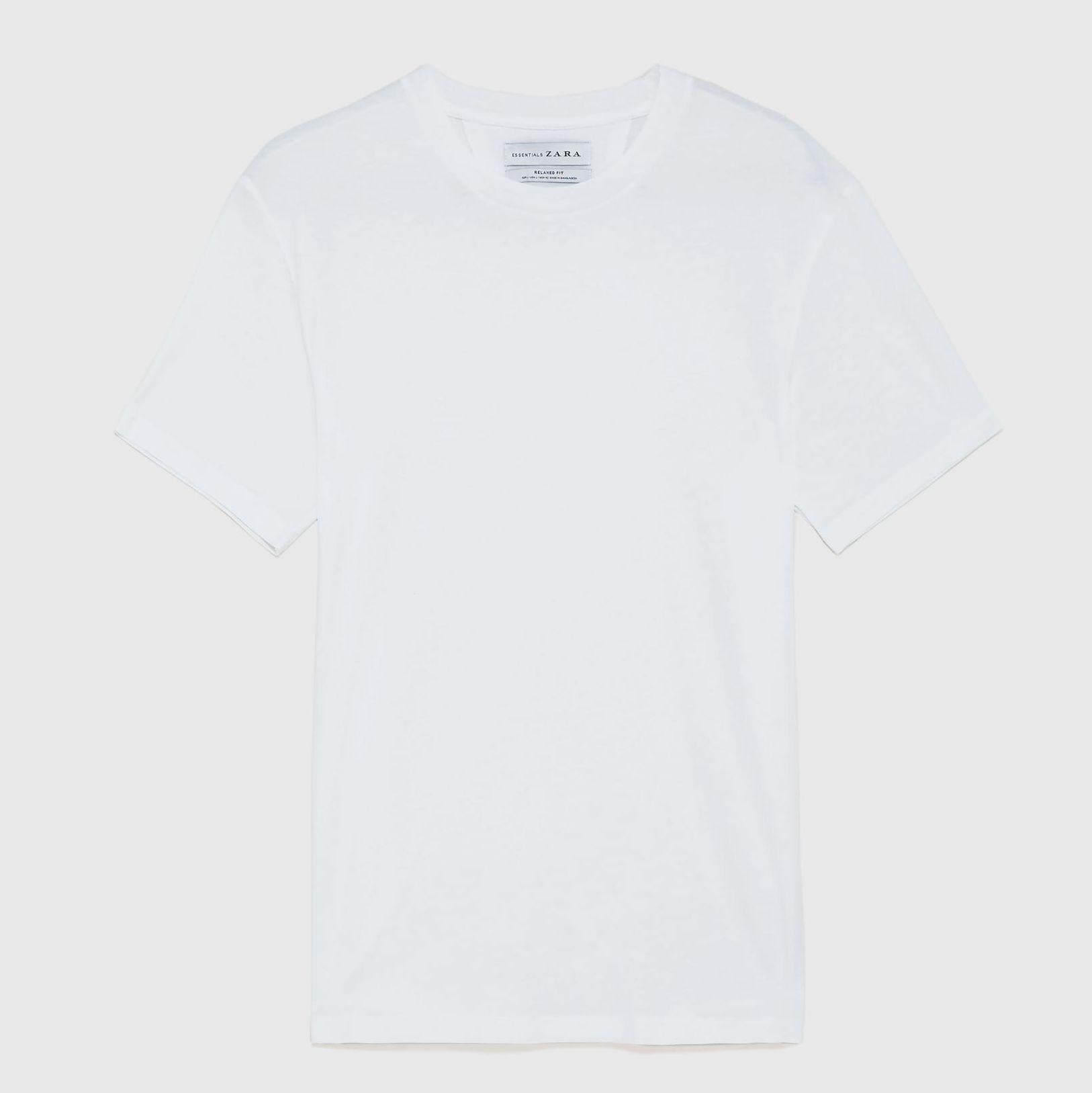 Camiseta blanca Zara, camiseta hombre