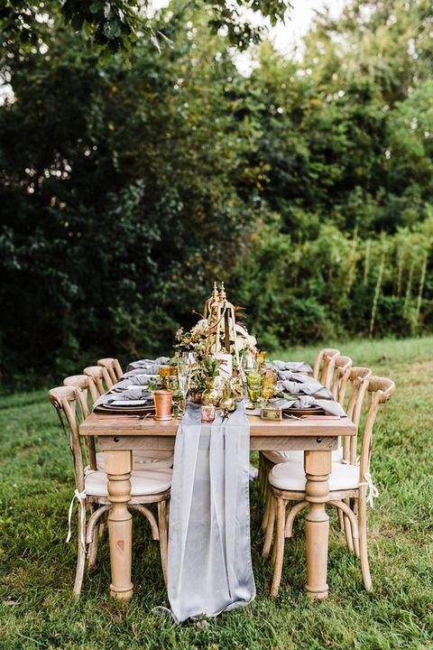 Photograph, Table, Furniture, Chair, Backyard, Grass, Garden, Tree, Tablecloth, Yard,