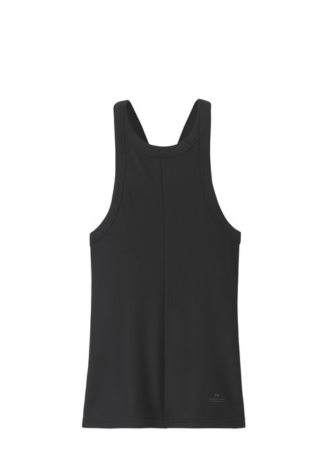 Clothing, Black, Outerwear, Sleeveless shirt, Sports uniform, Sleeve, Sportswear, Neck, camisoles, Vest,