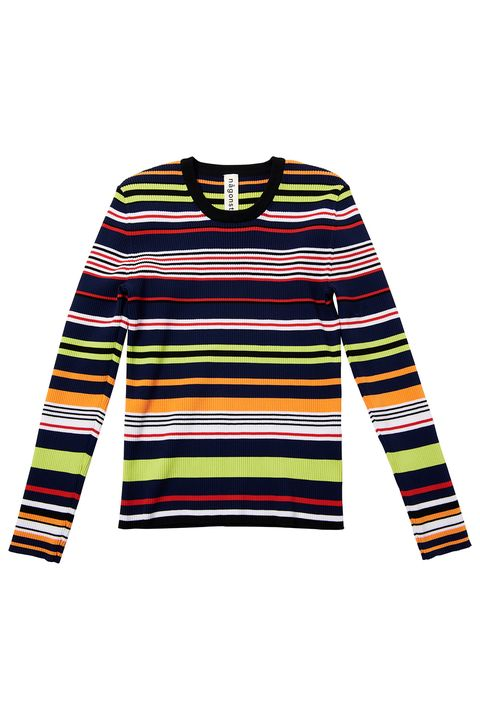 Clothing, Sleeve, Long-sleeved t-shirt, Yellow, Outerwear, Sweater, T-shirt, Jersey, Top, Neck,