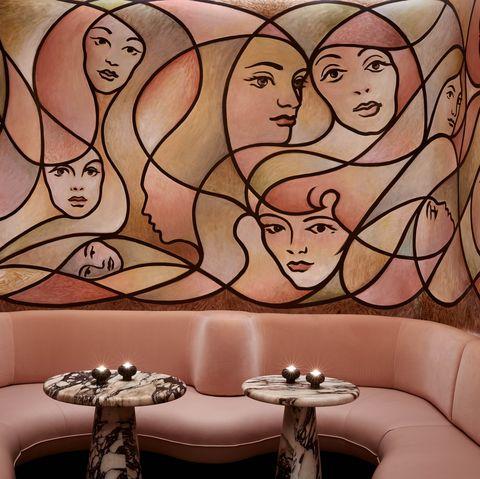 Cartoon, Wall, Art, Mural, Interior design, Room, Illustration, Fun, Visual arts, Wallpaper,