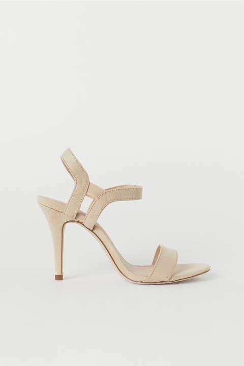 Footwear, Slingback, Beige, Shoe, Sandal, High heels, Leather,