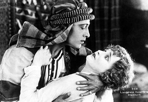 An early Rudolph Valentino film is part of a newexhibit about Italians in Hollywood.