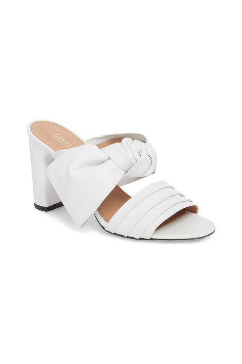 Footwear, White, Slingback, Shoe, Sandal, Beige, Tan, Slipper, Strap, Wedge,