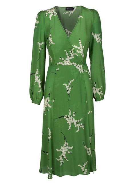 Clothing, Green, Dress, Day dress, Sleeve, Cocktail dress, Robe, Outerwear, Neck, Gown,